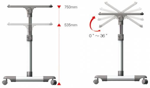 Defianz Height And Tilt Adjustable Table 2