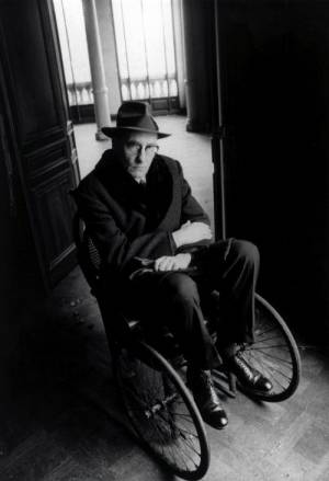 William Burroughs In Wheelchair